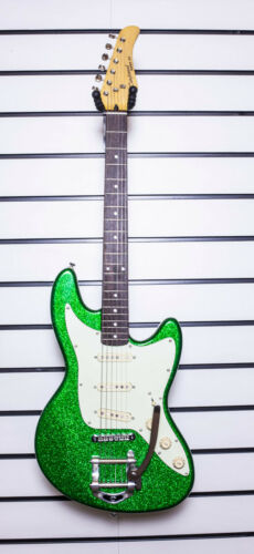 Tanglewood Super Six Electric Solid Body Guitar Green Bigsby Style Tremolo Y46
