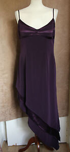 Strappy-Deep-Purple-Asymmetric-Hem-Party-Dress-Size-14-John-Charles