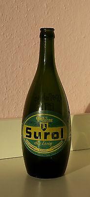 Surol Kühne Glasflasche aus den 40er Jahren,Reklame Glas rar Vintage