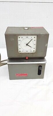 Vintage Lathem Time Clock Time Recorder Punch Clock