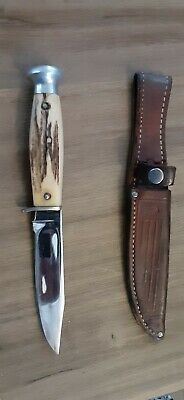 Vintage Case Hunting Knife w/ sheath, pommel head