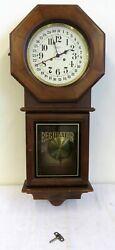 Vintage Franz Hermle Regulator 14 Day Wood Wall Pendulum Clock