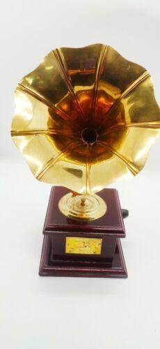 Brass Gramophone on wooden base (Dummy)
