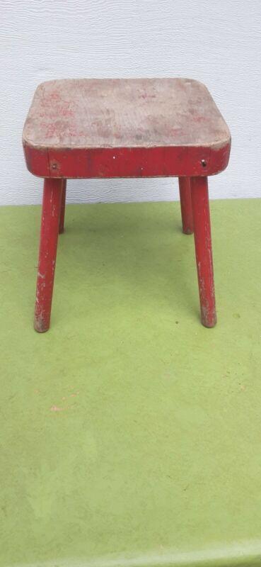 Vintage primitive stool milking stool wood