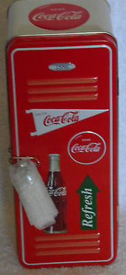 NEW COCA COLA LOCKER TIN WITH LOCK & KEYS - COKE VINTAGE REFRESH TIN