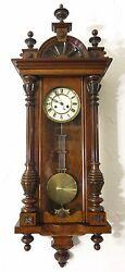 Antique German wall clock Vienna regulator 100% original X Large Pfeilkreuz 1890