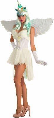 White Unicorn Corset Adult Womens Costume Accessory Faux Fur Fantasy EDC - Unicorn Corset