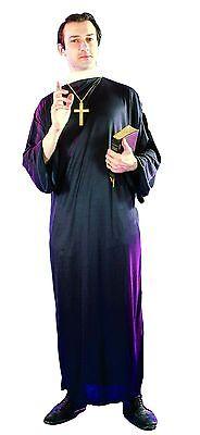 SW Mens Costume Fancy Dress Priest Monk Vicar Church Religious Clerical Preacher (Preacher Costume)