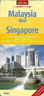 Map of Malaysia West & Singapore, by Nelles Map
