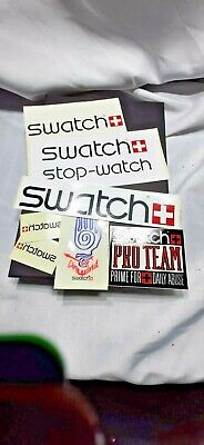 Swatch watch promotional stickers and decals