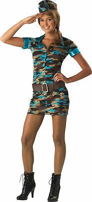 TEEN Halloween COSTUMES Military Army MAJOR TROUBLE  Girls Junior Tween Size M](Teen Halloween Costumes Teenage Girls)