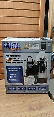The Basement Watchdog Big Combo Connect 12hp Sump Pump System Bw4000 Brand New