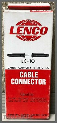 Lenco Lc-10 Male Welding Cable Connector - Cable Capacity 4 Thru 10