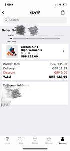 Jordan Air 1 High Women's size women us10.5 equal men size us9