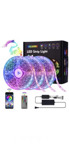 AOGUERBE Led Strip Lights 49.2FT/15M Music Sync Color Changi