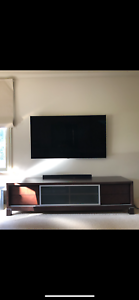 Chocolate brown timber tv unit