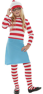 Waldo Costume Girl (Girls Wheres Wally Wenda Waldo Childs Book Week Fancy Dress Costume Age)
