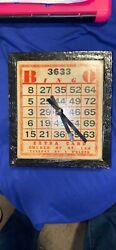 Small Wood Bingo Clock