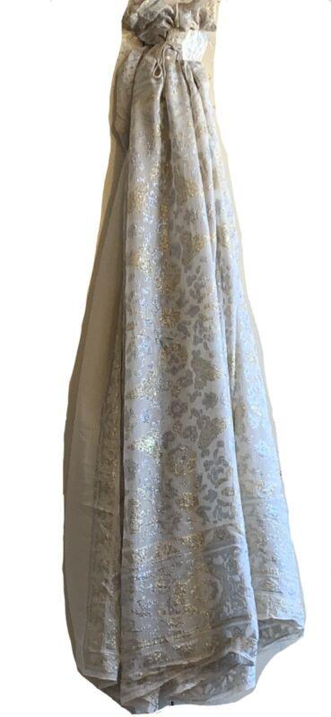 Beautiful 1940's French Silk Woven Metallic Jacquard fabric 5040