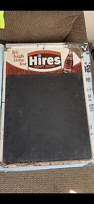 Vintage HIRES ROOT BEER SODA Tin Advertising Chalkboard Menu Board SIGN