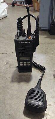 Motorola Mts2000 Radio H01wcf4pw1bn 900 Mhz Portable Display Battery Mic