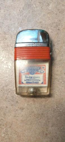 Vintage BUDWEISER BEER RED Band Vu-Lighter by Scripto SCRIPTO VU