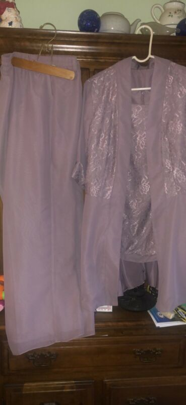 Plus Size mother of the bride Church Formal pant suit 22W Lavender Dusty Purple