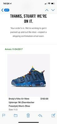 Nike Air More Uptempo Doernbecher Freestyle 11 5   With Nike Com Receipt