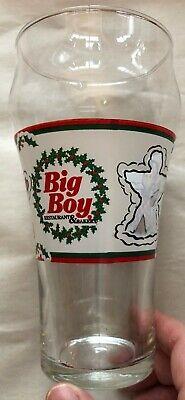 Glass: Vintage Big Boy Restaurants Snow Angel xmas christmas Drinking used