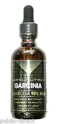 Liquid Garcinia Cambogia 98  Hca Extract Drops Diet Weight Loss Absonutrix