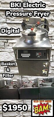 Bki Electric Pressure Fryer With Basket And Oil Filtration System 208v 3 Phase