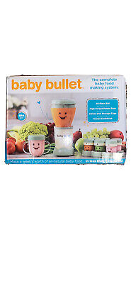 Magic Baby Bullet Food Blender Processor System New Never Been Used