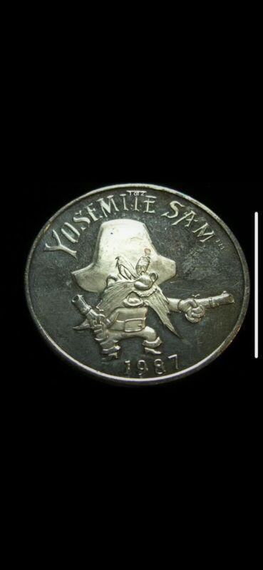 1987 Looney Tunes Yosemite Sam .999 Silver Round 1 Troy Oz