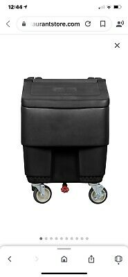 Ice Bin Used Continental On Wheels 125 Capacity Black Excellent Condition