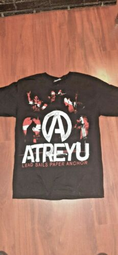 autographed atreyu 2008 taste of chaos tour shirt fast free shipping size medium