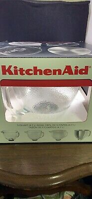 KitchenAid 5 qt. Tilt-Head Frosted Glass Bowl with Lid for Stand Mixer New K5GBF