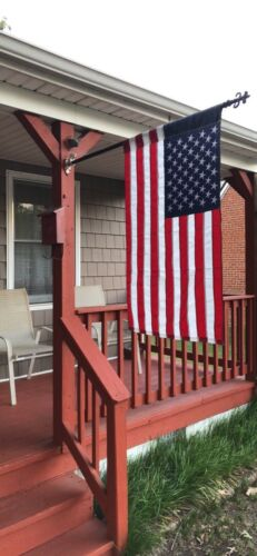american flag double sided applique house flag