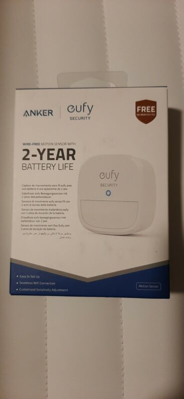 2 eufy Security Home Alarm System Motion Sensors (HomeBase included)