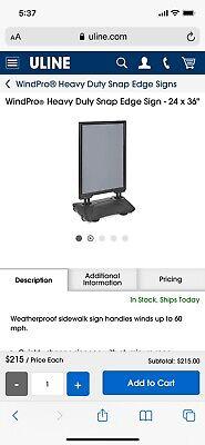 Wind Pro Heavy Duty Snap Edge Signs 24x36-new In Box-