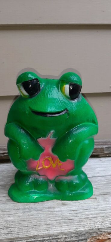 Vintage 71 Frog With LOVE vibrant green, Vinyl Bank by Vinyl Products Co NY