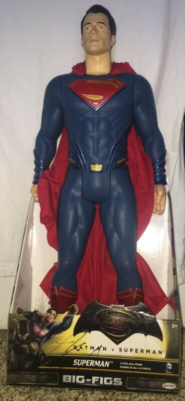 Henry Cavill Signed 19 Inch Superman Figure Batman vs Superman with exact proof