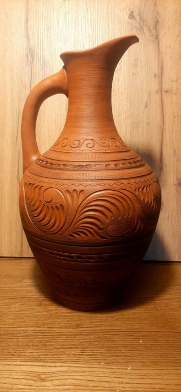 ceramic clay carved wine jug,for wine