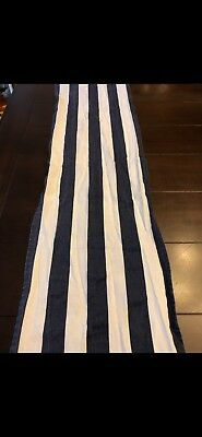 19 navy blue and white striped table - Navy And White Striped Table Runner