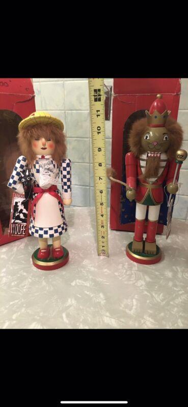 Wizard of Oz Dorothy & Lion Wooden Nutcracker Figure Michael Wolfe Horizons East
