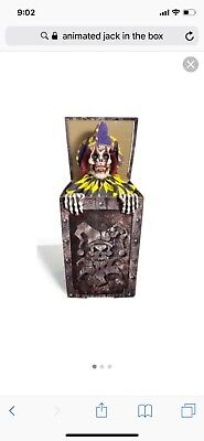 Halloween Jack In The Box Prop (ANIMATED JACK in the BOX)