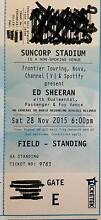 Ed Sheeran Ticket - Brisbane - Standing Redcliffe Redcliffe Area Preview
