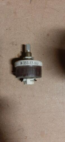 Ohmite Rheostat H-350-F2-352 Model H 25 watt 350 ohm,