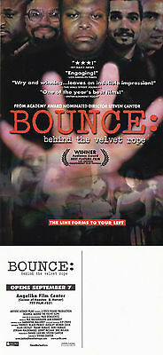 BOUNCE BEHIND THE VELVET ROPE THE MOVIE UNUSED ADVERTISING COLOUR POSTCARD