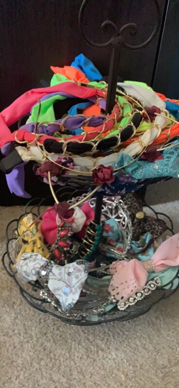 Lot Of Hair Pieces And Holder
