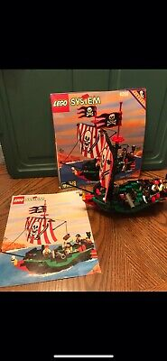 Vintage Lego 6250 PIRATES Cross Bone Clipper Complete with Manual Rare
